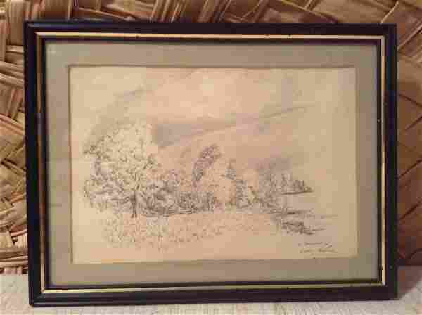 Original Pencil Drawing Signed by the Artist A. Brennan