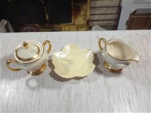 Fermanchi plate and creamer and sugar Set
