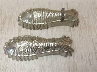 """2 Early Fish Molds 10.5"""" long"""