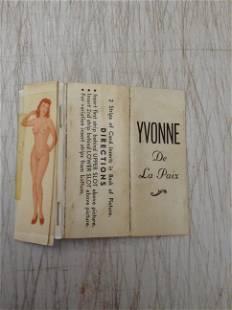 Yvonne De La Paix Risque Cardboard Card Changes from