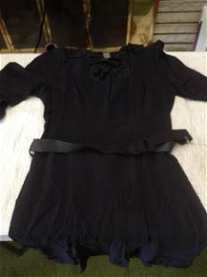 1940s/50s Black Custom-Made New York Creation dress