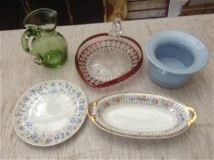 Lot of vintage Nippon China and vintage glassware