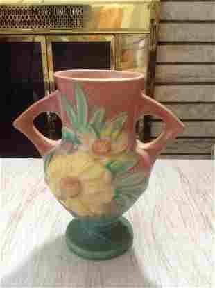 """Roseville Vase 6.25"""" tall no chips or cracks"""