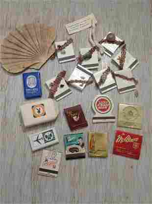 Large lot of vintage matchbooks, Playboy soap and more