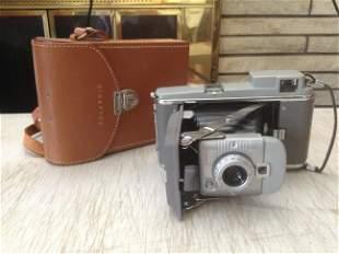 Vintage Polaroid land camera with original case