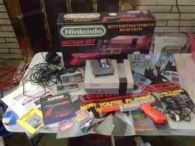 1990 Nintendo Entertainment system Action set Complete