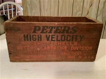 Wooden ammunition box 14x6x7