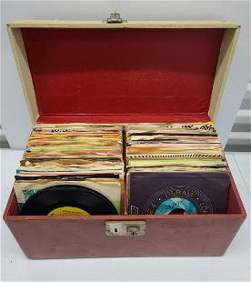 Large Case of 45 Records