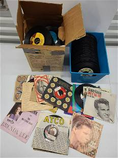 Large Amount of 45 Records Various Decades