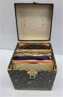 Decca Galaxy Case and 45 Records