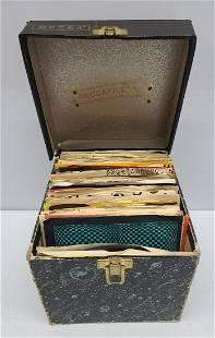 Decca Galaxy Case and 45 Records 2