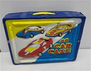 Vintage Toy Car Vinyl Case Blue