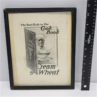 1907 Framed Cream of Wheat Ad
