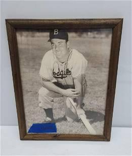 Vintage Framed Dodgers Photo