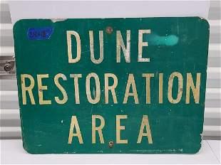 Dune Restoration Metal Sign