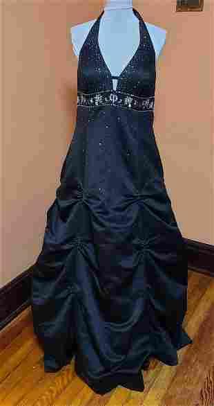 Women's 2x Black Gown Burlesque