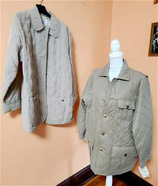 2 Vtg Wathne Men's Quilted Jackets M & L