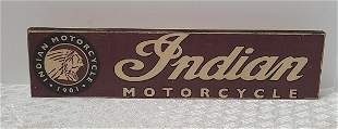 Indian Motorcycle Wooden Sign 16x4