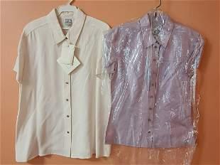 Vtg Wanthe NOS Silk Blouses Sz 4 & 14