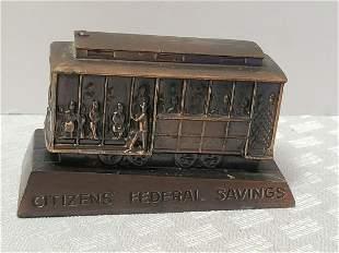 1960 75th Anniversary Citizens Federal Savings Metal