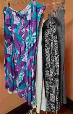 4 Vintage Midi Skirts Larger Sizes
