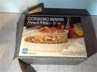 Corning ware french white set