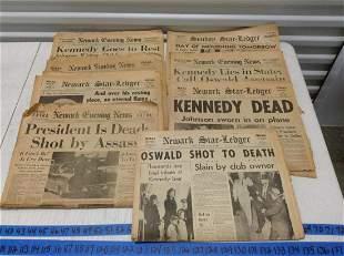 Original 1960s JFK Newspapers