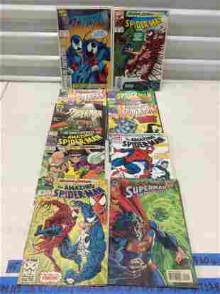 Lot of Spiderman and Superman Comics