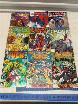 Hulk, Avengers, Captain America and other comics