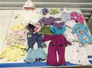 Large lot of American Girl and other doll Clothes