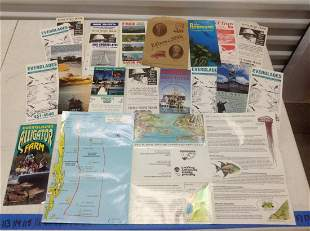 Large lot of Florida Tourism Brochures and map