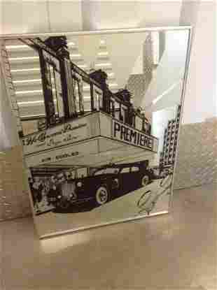 """Art Deco Style Palace Theatre Painted Mirror 24""""x18"""""""