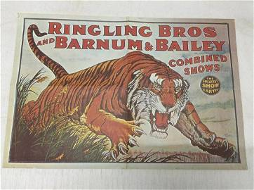 """Ringling Bros and Barnum & Bailey Poster 25""""x17"""""""