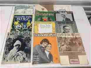 Large lot of Early Sheet music