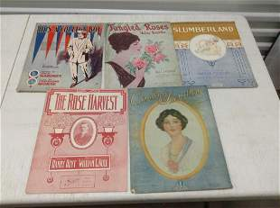 Lot of Very Early Sheet Music
