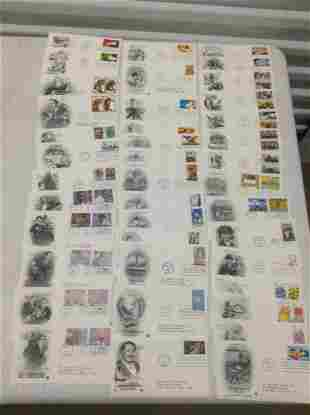 Lot of 40 1995 First Day Covers - Jazz, WWII, Carousel