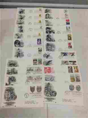 Lot of 22 1980 First Day Covers - Indian Masks, Coral