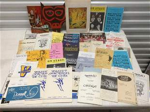 Huge lot of playbills, Cuban Ballet and other museum &