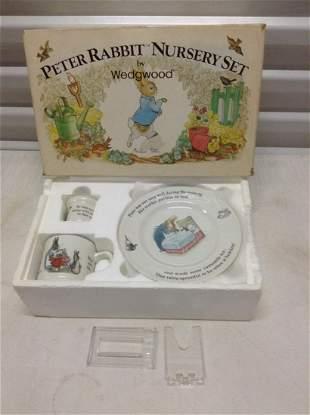 Wedgwood Peter Rabbit Nursery Set in the box