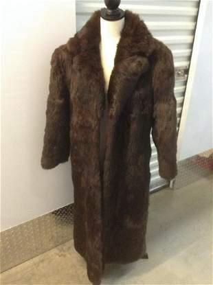 Genuine Rabbit Fur Coat Size Small