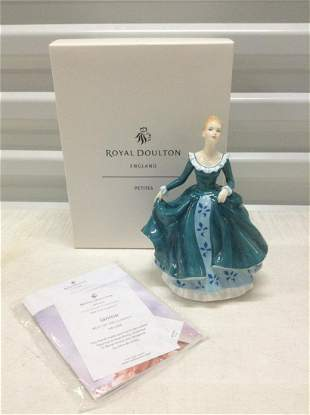 """Royal Doulton England """"Janine"""" Mint With Box 7"""""""