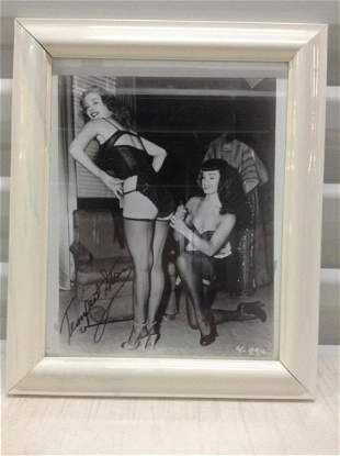Rare 1950s Betty Page & Tempest Stormy Burlesque Photo