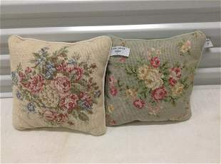 """Pair of Vintage Laura Ashley Pillows 11""""x11"""""""