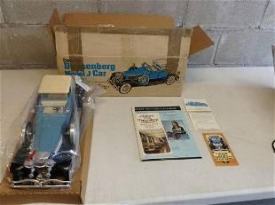 Vintage Jim Beam Beams Duesenberg MNodel J Car Decanter