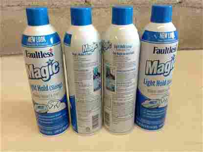 lot of 4 Faultless Magic light hold ironing enhancer