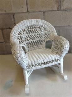 "Children's Whicker rocking chair 21"" tall"