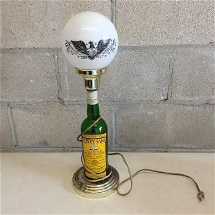 "Cuttysark Blended Scots Whiskey bottle lamp 21"" tall"