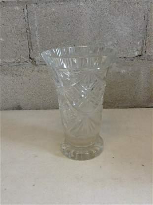 """Crystal Vase 10"""" tall"""