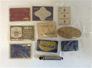 1960s Plaques and Early Schrader Balloon tire Gauge