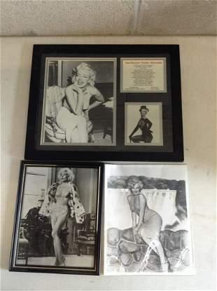 Framed Gentlemen Prefer Blondes and Marilyn Monroe